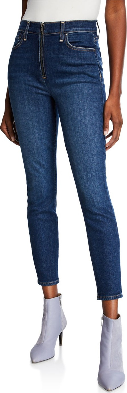 Alice + Olivia Good High-Rise Ankle Skinny Jeans with Exposed Zip Fly