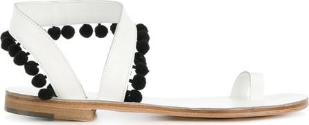 Álvaro Contrast pompom detail sandals