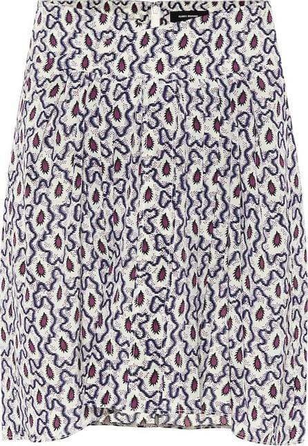 Isabel Marant Hemen printed silk miniskirt