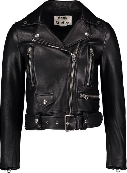 Acne Studios Belted Leather Motorcycle Jacket