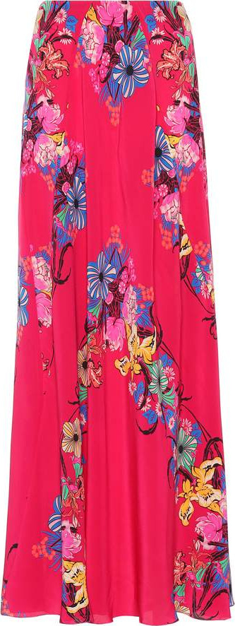 Etro Floral printed silk skirt