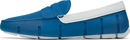 Swims Men's Rubber Penny Loafer Water Shoes, Seaport Blue/Alloy