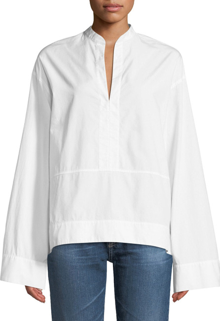 AG Jeans Eden Wide-Sleeve Cotton Tunic Blouse