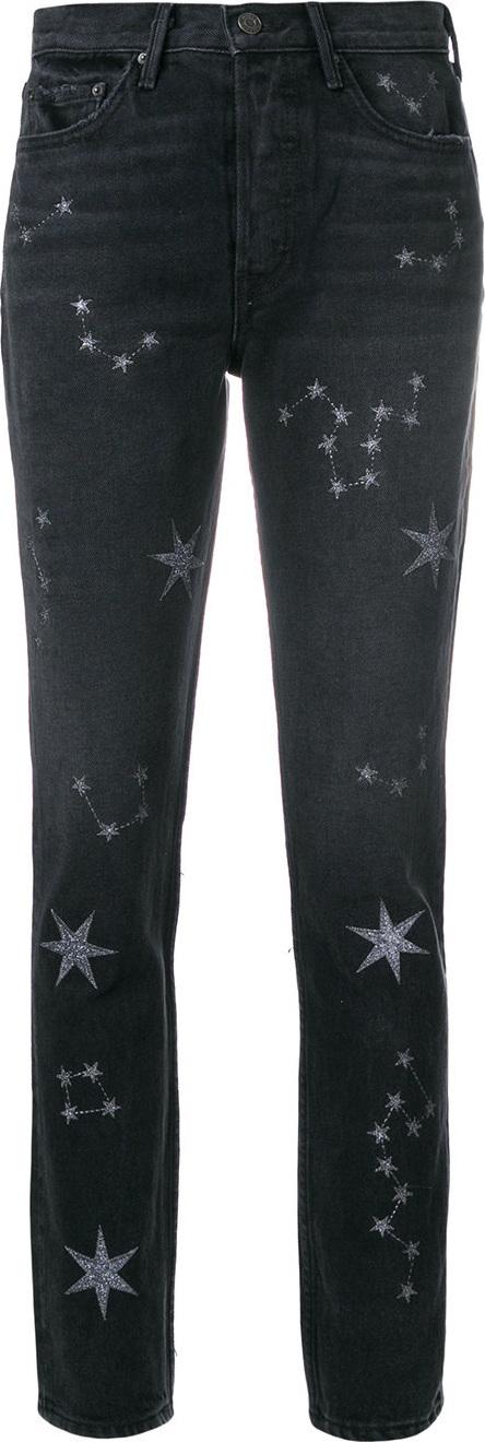 Grlfrnd Star-embellished fitted jeans