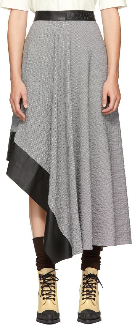 LOEWE Black & White Asymmetric Skirt
