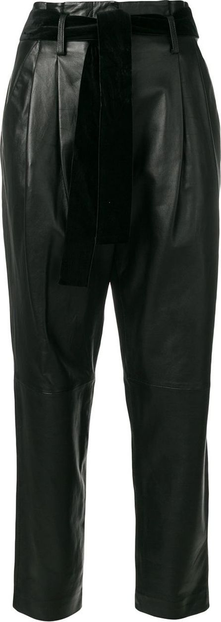 MICHAEL MICHAEL KORS high-waisted pleated leather pants