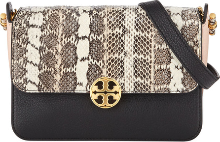 Tory Burch Chelsea Colorblock Snake Crossbody Bag