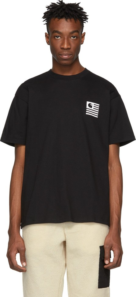 Carhartt Work In Progress Black State Patch T-Shirt
