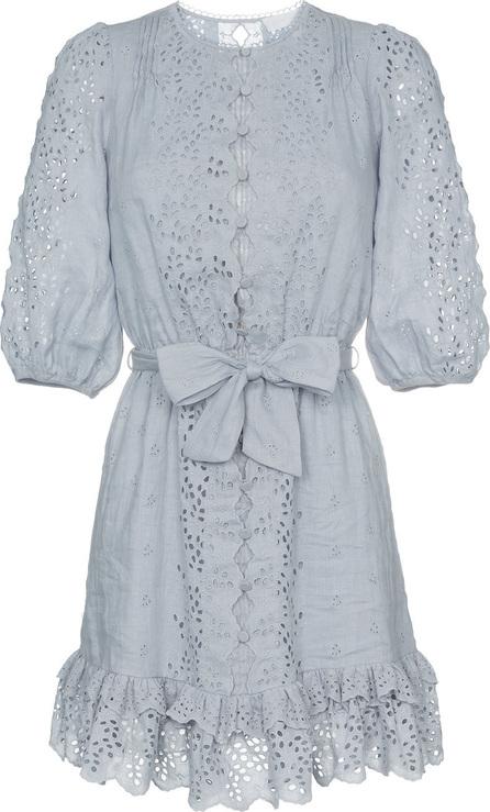 Zimmermann Iris scalloped embroidered cotton mini dress