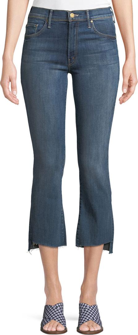 MOTHER Insider Crop Frayed Jeans