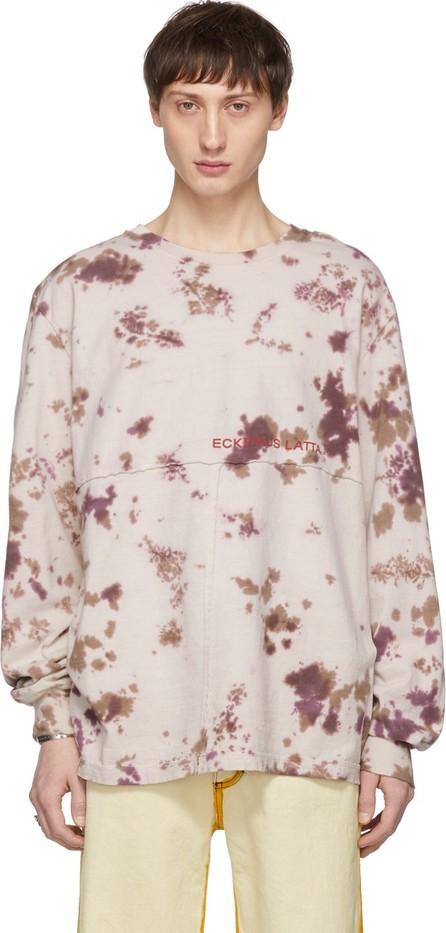 Eckhaus Latta Grey Dirty Dye Lapped Long Sleeve T-Shirt
