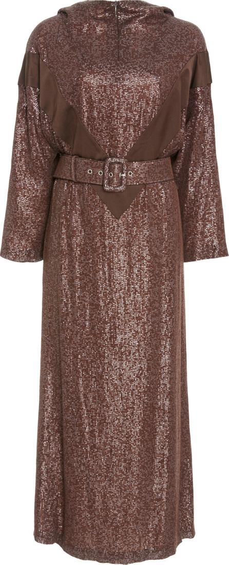 Alena Akhmadullina Hooded Silk Dress