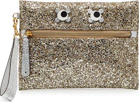 Anya Hindmarch Circulus Eyes Glitter Leather Pouch