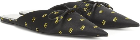 Balenciaga BB Knife satin slippers