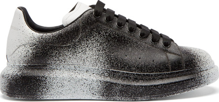 Alexander McQueen Spray-effect leather low-top trainers