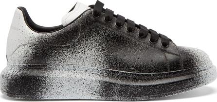 Alexander McQueen Spray-effect leather low-top trainers