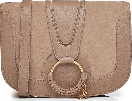 See By Chloé Shoulder Bag with Leather and Suede