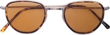 GARRETT LEIGHT tortoiseshell round sunglasses