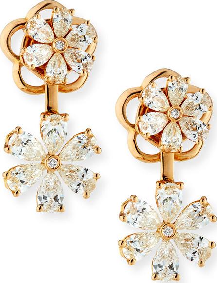 ZYDO 18k Rose Gold Boccole Drop Earrings w/ Diamonds