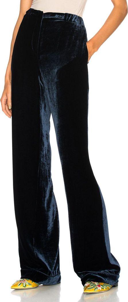 Alberta Ferretti Velvet Wide Leg Pants