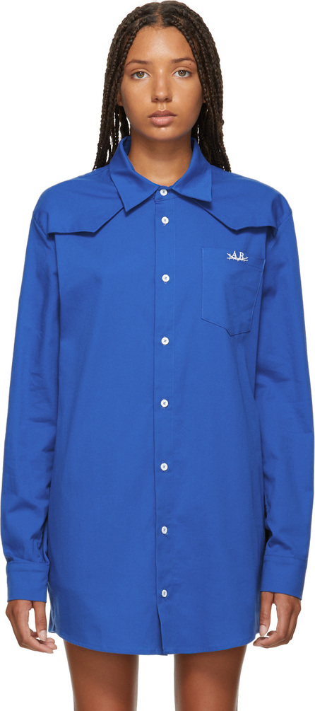 Anton Belinskiy Blue Cotton Shirt