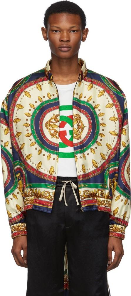 Gucci Green Silk Mermaid Bomber Jacket
