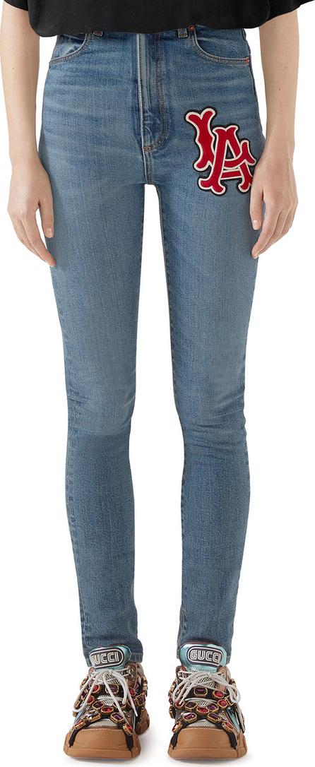 Gucci LA Angels MLB Patch Skinny Denim Jeans
