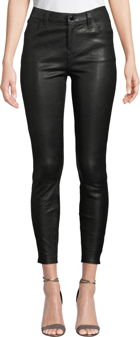 J BRAND Mid-Rise Leather Ankle Skinny Pants
