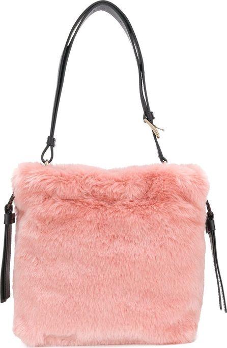 Furla faux fur bucket bag