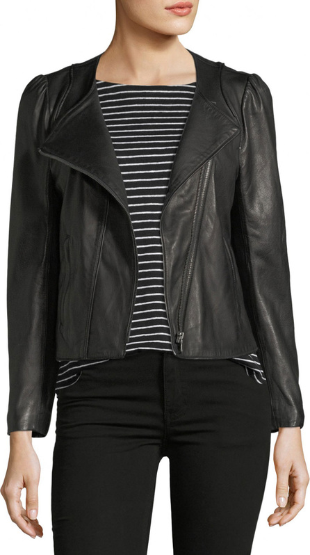 Joie Derica Motorcycle Jacket, Black