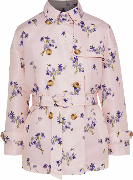 RED Valentino Double-breasted floral-print satin-faille jacket
