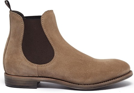 PROJECT TWLV 'Hanoi' suede sand leather boots