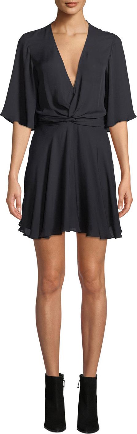 A.L.C. Ava Twist-Front Silk Mini Dress