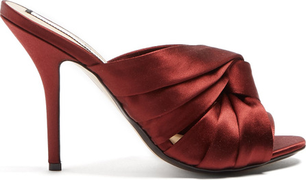 Nº21 Twisted-satin open-toe mules