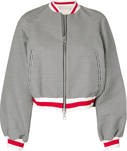 Sara Battaglia Gingham bomber jacket