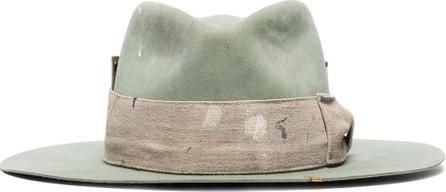 Nick Fouquet Santa Lucia bow-detailed wool-felt hat