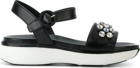 Prada Daisy crystal sandals