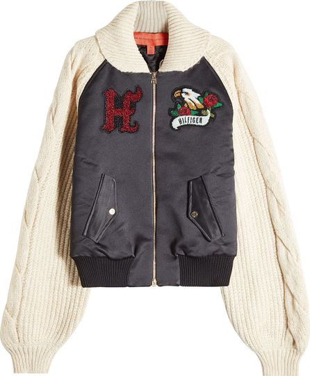 Hilfiger Collection Bomber Jacket with Knit Sleeves