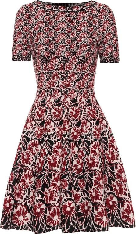 Alaïa Floral stretch-knit dress