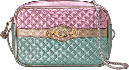 Gucci Small Quilted Metallic Crossbody Camera Bag