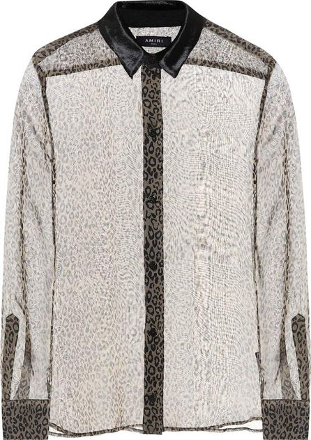 Amiri Printed silk blouse