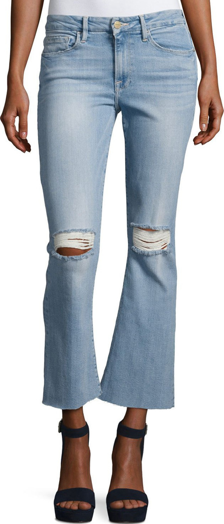 FRAME DENIM Le Crop Mini Boot-Cut Jeans with Raw Edge, Garrn River