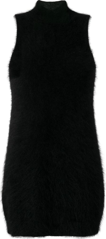 GIAMBA fluffy fitted dress