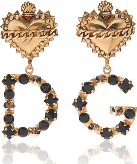 Dolce & Gabbana Heart Earrings With Logo
