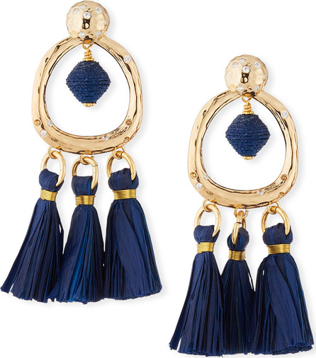 Akola Tassel & Hoop Drop Earrings