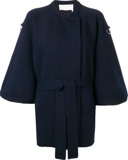 Chloe Cropped sleeve baroque intarsia coat