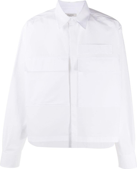 Valentino Flap pocket shirt jacket