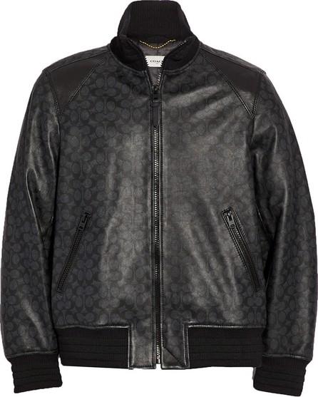 COACH Signature Leather Track Jacket
