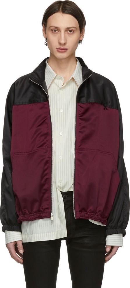 Enfants Riches Deprimes Burgundy & Black Baggy Fit Track Jacket
