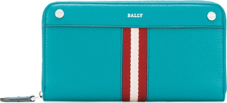 Bally stripe zip around wallet